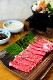 Beef for shabushabu Stock Image