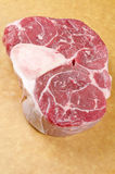 Beef Shank. Close up of a piece of beef shank with bone in Stock Images