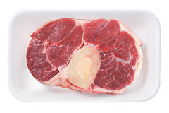 Beef Shank. Raw sliced beef shank, marrow bone Royalty Free Stock Images