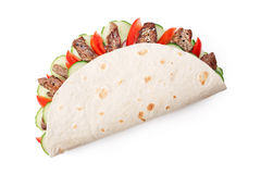 Beef shawarma isolated Royalty Free Stock Image