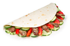 Beef shawarma isolated Stock Images
