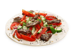 Beef shawarma isolated Stock Photography