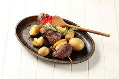 Beef shish kebab Stock Photo