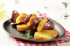 Beef shish kebab Royalty Free Stock Image