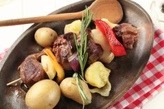 Beef shish kebab Stock Images
