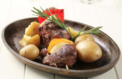 Beef shish kebab Royalty Free Stock Photos