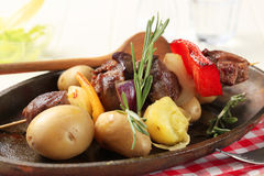 Beef shish kebab Royalty Free Stock Photo