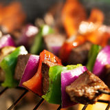 Beef shish kebabs stock images