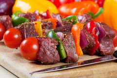Beef shishkabob Stock Photography