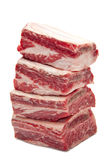 Beef Short Ribs. On White Background royalty free stock photo