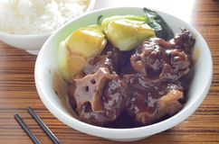 Beef Short Ribs. Shanghainese Style Beef short Ribs royalty free stock photography