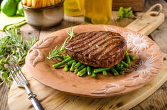 Beef sirloin steak Royalty Free Stock Images