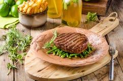 Beef sirloin steak Stock Photos