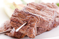 Beef skewer Stock Image