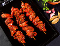Beef skewers Royalty Free Stock Photography