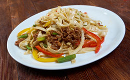 Beef slice  and udon-noodle. Stock Photography