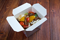 Beef slice  and udon-noodle Stock Photography