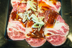 Beef sliced Stock Image