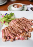 Beef sliced steak grilled Stock Photography