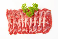Beef sliced stock photos