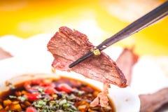 Beef slices Stock Photo