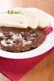 Beef slices with cranberries and red wine Royalty Free Stock Photography
