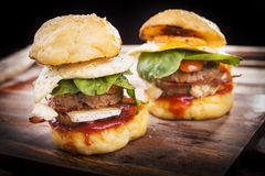Beef Sliders Royalty Free Stock Photo
