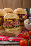 Beef Sliders with homemade barbecue sauce Royalty Free Stock Image