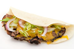 Beef Soft Taco Royalty Free Stock Photography