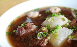 Beef soup. A bowl of beef soup royalty free stock photo