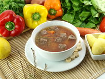 Beef soup Stock Image