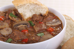 Beef Soup Closeup Royalty Free Stock Photos