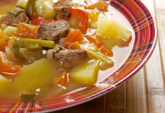 Beef soup Lecho Royalty Free Stock Photography