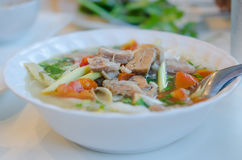 Beef soup noodles Royalty Free Stock Images