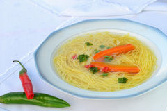 Beef soup with noodles Royalty Free Stock Photography
