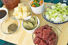 Beef Soup Ingredients Royalty Free Stock Photography