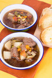 Beef Soup and Toast Stock Image