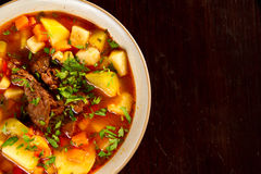 Beef soup Stock Photos