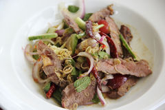 Beef spicy salad Stock Photo
