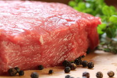 Beef steak. Angus breed - meat on the grill Royalty Free Stock Image