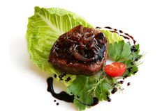 Beef steak with balsamic sauce Stock Photography