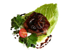 Beef steak with balsamic sauce Royalty Free Stock Photo