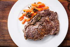 Beef steak with carrot Stock Image