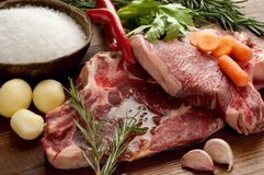 Beef steak close up Stock Image