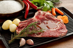 Beef steak close up Royalty Free Stock Images