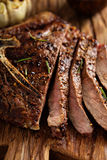 Beef steak cooked on a grill Royalty Free Stock Photos