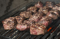 Beef steak cooking Royalty Free Stock Images