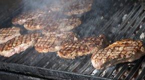 Beef steak cooking Stock Photos