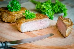 Beef Steak - cross section Royalty Free Stock Photo