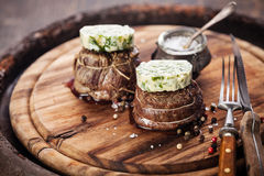Beef steak filet mignon Royalty Free Stock Images
